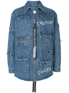 Faith Connexion Vestido Con Vuelo - Farfetch Denim Button Up, Button Up Shirts, Kids Wear Boys, Cutaway Collar, Summer Looks, Size Clothing, Military Jacket, Women Wear, Faith
