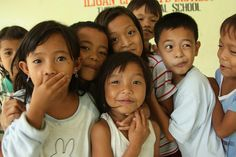 Children affected by Tropical Storm Sendong in Iligan, Mindanao, Philippines.