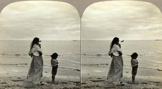 Philippine Woman and Child on the Shores of Manila Bay