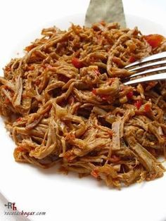 Recipe of shredded meat. Homemade recipe, step by .- Recipe of shredded meat. Homemade recipe, step by step, with detailed photographs in each of the steps. Meat Recipes, Gourmet Recipes, Mexican Food Recipes, Cooking Recipes, Healthy Recipes, Ethnic Recipes, Fish Recipes, Venezuelan Food, Good Food