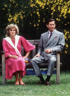 June 12, 1984: Prince Charles and Princess Diana at a photocall in the garden of Kensington Palace, London.