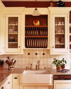 12 Advantages Of Old Country Farmhouse Kitchens Cabinets And How You Can Make Full Use Of It High Gloss Kitchen Cabinets, Free Standing Kitchen Cabinets, Kitchen Cabinet Design, Kitchen Storage, Kitchen Racks, Country Kitchen Farmhouse, French Country Kitchens, Farmhouse Kitchen Cabinets, Farmhouse Kitchens