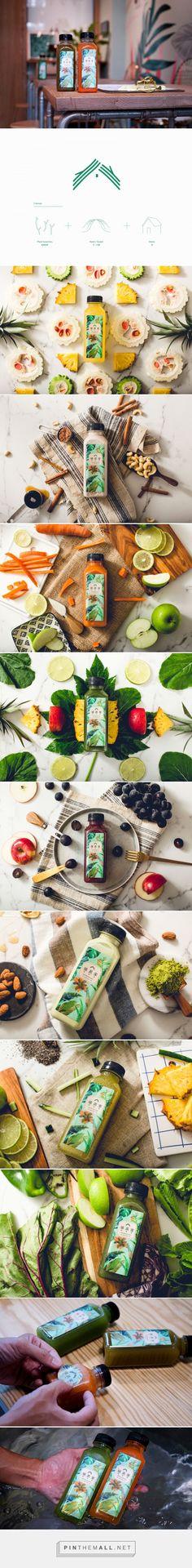 UEMIYA Cold Pressed Juice packaging design by Nio Ni - http://www.packagingoftheworld.com/2017/10/uemiya-cold-pressed-juice.html