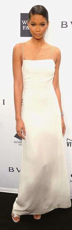 Fabulously Spotted: Chanel Iman Wearing Calvin Klein - 2014 amfAR New York Gala - LuxuryCheckout Chanel Iman, Sexy Dresses, Nice Dresses, Evening Dresses, Prom Dresses, Wedding Dresses, Street Style 2014, New York, Calvin Klein Collection
