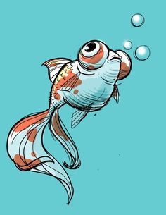 16 Ideas for drawing animals fish character designYou can find Fish art and more on our Ideas for drawing animals fish character design Animal Sketches, Animal Drawings, Art Sketches, Drawing Animals, Art And Illustration, Illustrations, Kunst Inspo, Art Inspo, Fish Drawings
