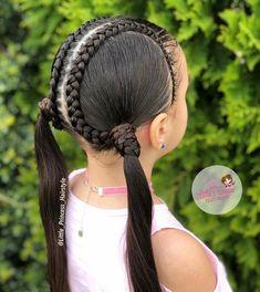 Flat Twist Hairstyles, Cute Little Girl Hairstyles, Braided Ponytail Hairstyles, Little Girl Ponytails, Girl Hair Dos, Toddler Hair, Winter Hairstyles, Fall Hair, Her Hair