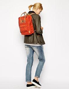 Enlarge Fjallraven Kanken No 2 Backpack with Leather Handles