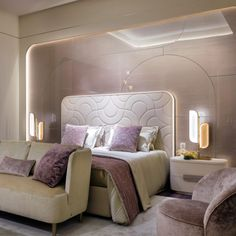 The quality in the choice of the basic materials, the heritage of knowledge, craftsmanship in the art of making furniture and finishes of the highest quality always emerge from our collections. Discover this dreamy bedroom. Bedroom False Ceiling Design, Small Room Bedroom, Bedroom Bed Design, Modern Luxury Bedroom, Luxury Bedroom Furniture, Luxury Furniture Design, Luxury Homes Interior, Modern Bedroom, Luxurious Bedrooms