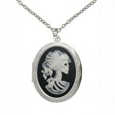 NCIS Abby Zombie Cameo Large Locket Necklace