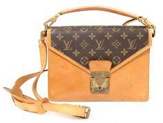 Louis Vuitton Vintage Monogram Canvas & Leather Monceau Satchel Bag #LouisVuitton #Monceau
