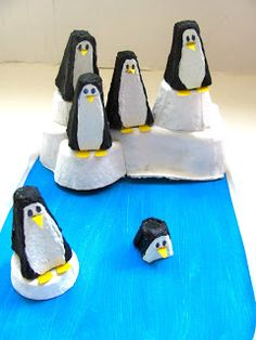 Penguins - egg carton