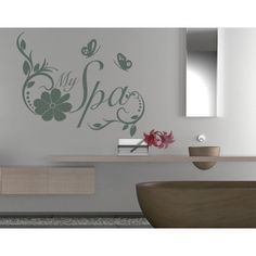 Style and Apply My Spa Wall Decal (16in x 13in )