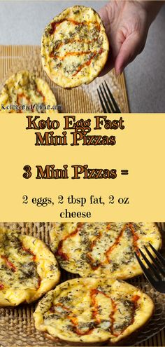 Keto Egg Fast Mini Pizzas! Yes, you can have your pizza on egg fast!
