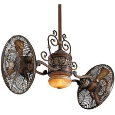 Steampunk Furniture found on Polyvore    ceiling fan... Love how they've reinvented a the wheel here... wondering how efficient it is