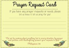 Creating a prayer wall this would be a great addition to our classroom prayer with kids for Prayer request card template word
