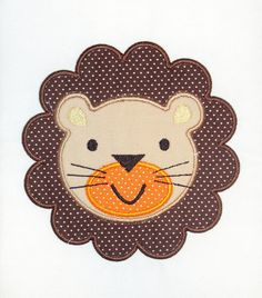 Baby Lion Embroidery Design Machine Applique. $2.99, via Etsy.