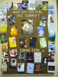 This would be a great post-summer reading round-up showcasing the books your library teens read during the SRP club | Back To School Bulletin Boards -For Fall | Hot Library Technician