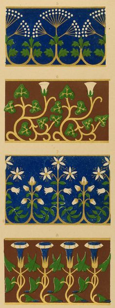 [Detail] Floriated ornament: a series of thirty-one designs (1849) In the Mary Ann Beinecke Decorative Art Collection. http://archive.org/stream/floriatedornamen00pugi#page/n127/mode/2up