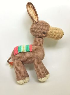 This is a PDF CROCHET PATTERN, NOT THE FINISHED DOLL.  LUCIANO, THE DONKEY is an original amigurumi pattern, so you can crochet your own doll. The