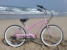 Firmstrong Urban Lady 7 Speed, Pink Women's 26 Inch Cruiser | Beachbikes