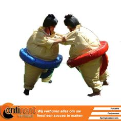 Wil jij je baas, collega, vader of je oma ook eens laten zien wie de baas is? Met deze sumopakken lach jij ook je ....uit je string!  http://contitentverhuur.nl/index.php/party-benodigdheden/spellen/sumo-worstel-pakken.html