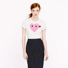 PLAY Pink Heart Tee by Comme Des Garçons