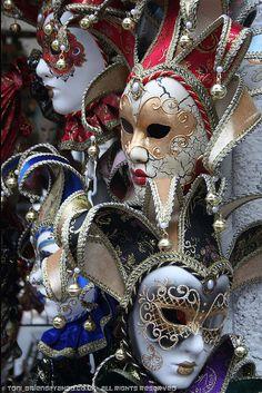 Venetian Masks by Toni Briens