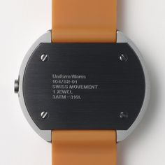 104 Series watch by Uniform Wares in orange/white. Available at Dezeen Watch Store: www.dezeenwatchstore.com #watches
