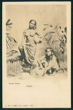 Asia India Sri Lanka Ceylon Nude Lady original old postcard Old Images, Old Photos, Vintage Photos, Polynesian Girls, Africa Tribes, Forest People, Native Girls, Vintage India, Historical Pictures