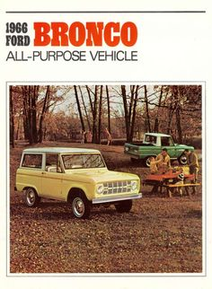 Happened upon the sales brochure for the debut model year of the Ford Bronco. The Bronco was produced from 1966 to 1986 with five distinct generations. The early Broncos are some of our all-time favorites. Classic Bronco, Classic Trucks, Classic Cars, Vintage Trucks, Vintage Ads, Muscle Truck, Early Bronco, Ford Bronco, Ford 4x4