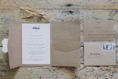 Kraft Pocket Invitation from a DIY Rustic Southern Wedding