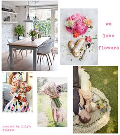 Lily's Florist   we ♥ flowers moodboard  