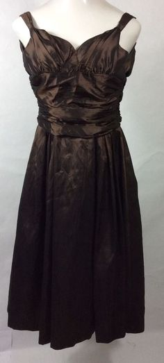 womens chocolate Chiffon BILL LEVKOFF dress / Lined Sleeveless Evening Gown: 2 #BillLevkoff #BallGown #Formal
