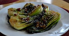 Made-delishious.Garlic and Ginger Glazed Baby Bok Choy