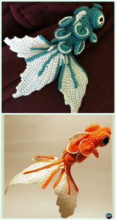 Crochet Amigurumi Crocodile Scale Fish Free Pattern - Crochet Amigurumi Little World Animal Toys Free Pattern