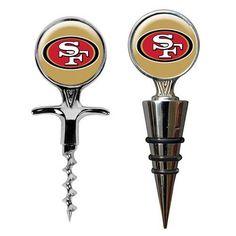 San Francisco 49ers Wine Bottle Stopper & Opener Gift Set