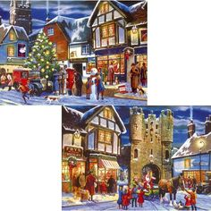 Christmas Collection - 2 x 500 Piece Jigsaw Puzzle from Jigsaw Puzzles Direct - Order today and Get Free Delivery