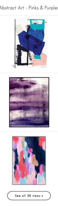 """Abstract Art - Pinks & Purples"" by ashlee295 ❤ liked on Polyvore featuring home, home decor, wall art, posters, heathers poster, welcome wall art, backgrounds, purple, giclee wall art and purple home accessories"
