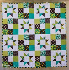 Leslie Unfinished: Just Quilts would be great for charm packs and a little yardage...tutorial