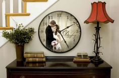 24 inch Custom Made Photo Clock BOGO sale! buy one get one free! by ForAllTimeClocks, $249.00