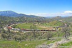 the loop train Tehachapi,Ca - Google Search