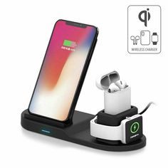 3 in 1 Qi Wireless Charger Charging Station Stand Dock For iPhone 11 Pro MaxXR 12 Iphone Watch, Iphone 11, Charger, Stuff To Buy, Ebay