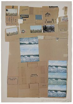 "(Captiva, Florida/ Texas, 1925-2008)General Delivery, 1971, AP 22/30, signed lower right ""Rauschenberg"", offset lithograph with two post cards in collage, 48-7/8 x 34 in.; unframed, light toning and foxing, small stains at top, creases, small hole top center Provenance: Ray and Dodi Booth, Captiva, Florida/Highlands, North Carolina, acquired from the artist in the 1970s; By descent in family"