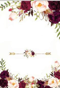 Pin by Glendy Vega on Invitaciones de boda in 2019 Wedding Templates, Wedding Invitation Templates, Wedding Invitations, Invites, Wedding Favors, Flower Background Wallpaper, Flower Backgrounds, Invitation Card Design, Floral Invitation