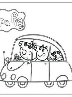 Peppa Pig - Print and Colour - ABC4Kids