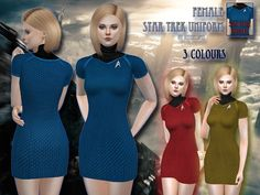 Instead of creating some goth or fantasy CC, I did this Star Trek uniform ('into the darkness' version) for female sims even though I'm not a fan actually.  Found in TSR Category 'Sims 4 Female...