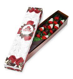Diseño de caja para dulces y rosas.