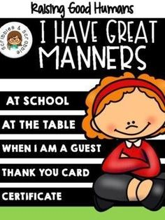 Sep 24, 2021 - Being mannerly, a very important social skill that we can't overlook. The doors of opportunity will be always opened for a child who shows proper behavior. Think about it, having good manners means putting respect into action. Who doesn't love a polite child?This packet contains activities that are ... Reading Resources, Teacher Resources, School Resources, Decoding Strategies, Kindergarten Activities, Fun Math, Word Work, Teacher Newsletter, Social Skills