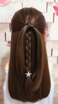 Easy Hairstyles For Medium Hair, Braids For Long Hair, Braided Hairstyles, Curly Hair, Hairstyle Short, Office Hairstyles, Stylish Hairstyles, Hair Updo, Simple Hairstyles For Kids