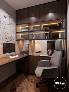 Modern Home Offices, Small Home Offices, Modern Office Design, Office Interior Design, Office Interiors, Study Room Design, Home Room Design, Home Office Setup, Home Office Space